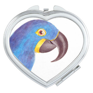 Macaw Parrot Bird Wildlife Animal Compact Compact Mirrors