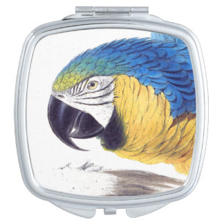 Macaw Parrot Birds Wildlife Animal Compact Mirrors For Makeup