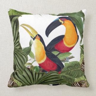Macaw Parrot Birds Wildlife Animal Throw Pillow