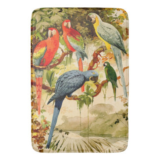 Macaw Parrot Birds Wildlife Jungle Bath Mat Bath Mats