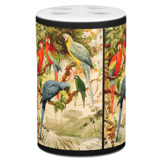 Macaw Parrot Birds Wildlife Jungle Bath Set