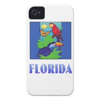 Macaw, Parrot, Butterfly & Jungle FLORIDA iPhone 4 Covers