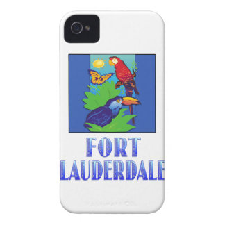 Macaw, Parrot, Butterfly & Jungle FORT LAUDERDALE iPhone 4 Cover