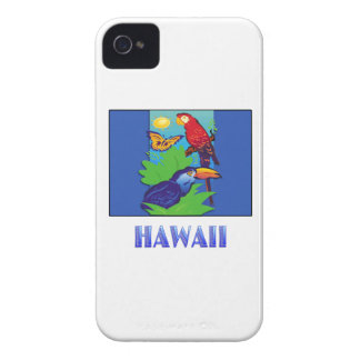 Macaw, Parrot, Butterfly & Jungle HAWAII iPhone 4 Case