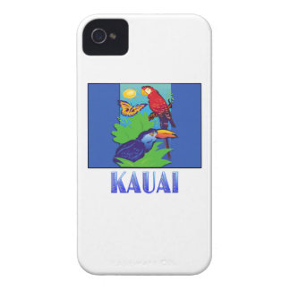 Macaw, Parrot, Butterfly & Jungle KAUAI iPhone 4 Case
