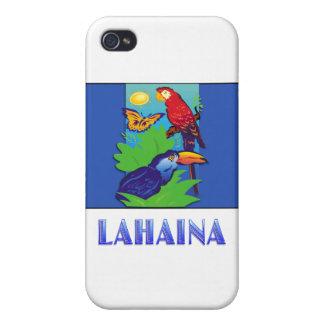 Macaw, Parrot, Butterfly & Jungle LAHAINA iPhone 4 Cases