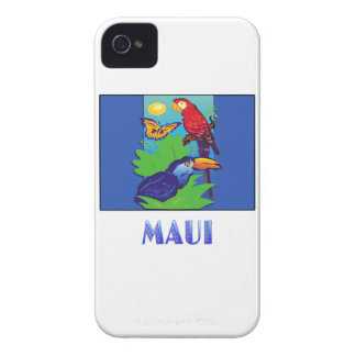 Macaw, Parrot, Butterfly & Jungle MAUI iPhone 4 Case-Mate Cases