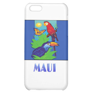 Macaw Parrot Butterfly Jungle MAUI iPhone 5C Cases