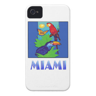 Macaw, Parrot, Butterfly & Jungle MIAMI iPhone 4 Case