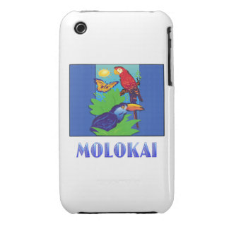 Macaw Parrot Butterfly Jungle MOLOKAI Case-Mate iPhone 3 Case