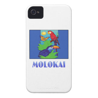 Macaw, Parrot, Butterfly & Jungle MOLOKAI iPhone 4 Case