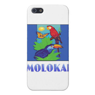 Macaw, Parrot, Butterfly & Jungle MOLOKAI iPhone 5 Cases