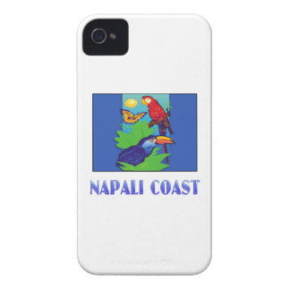 Macaw, Parrot, Butterfly & Jungle NAPALI COAST iPhone 4 Case-Mate Case