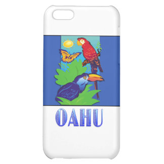 Macaw Parrot Butterfly Jungle OAHU iPhone 5C Case