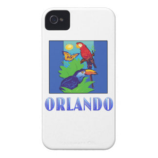 Macaw, Parrot, Butterfly & Jungle ORLANDO Case-Mate iPhone 4 Cases