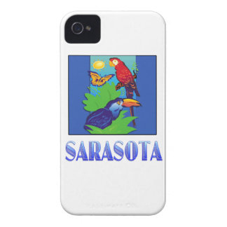 Macaw, Parrot, Butterfly & Jungle SARASOTA iPhone 4 Case-Mate Case