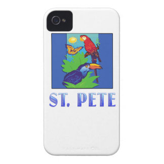 Macaw, Parrot, Butterfly & Jungle ST PETE iPhone 4 Case-Mate Case