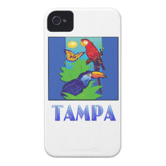 Macaw, Parrot, Butterfly & Jungle TAMPA iPhone 4 Cover