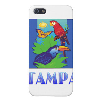 Macaw, Parrot, Butterfly & Jungle TAMPA Cover For iPhone 5