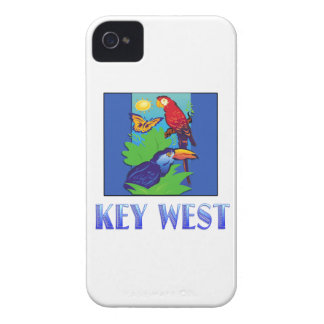 Macaw, Parrot, Butterfly & JungleKEY WEST iPhone 4 Covers