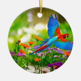 Macaw Parrot Christmas Ornament