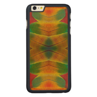 Macaw parrot feather kaleidoscope carved® maple iPhone 6 plus case