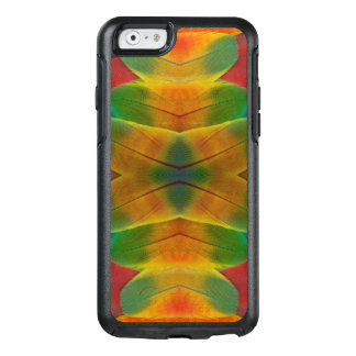 Macaw parrot feather kaleidoscope OtterBox iPhone 6/6s case