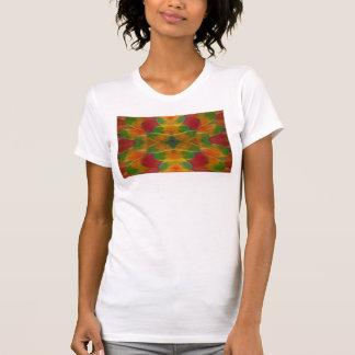Macaw parrot feather kaleidoscope T-Shirt