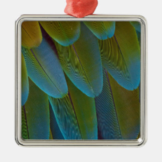 Macaw parrot feather pattern detail christmas ornament