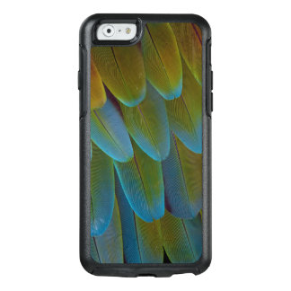 Macaw parrot feather pattern detail OtterBox iPhone 6/6s case