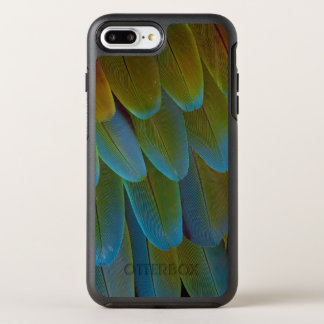 Macaw parrot feather pattern detail OtterBox symmetry iPhone 7 plus case