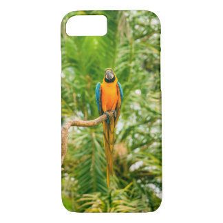 Macaw parrot in a green rain forest iPhone 7 case