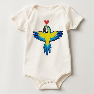 Macaw / Parrot Love Baby Bodysuit