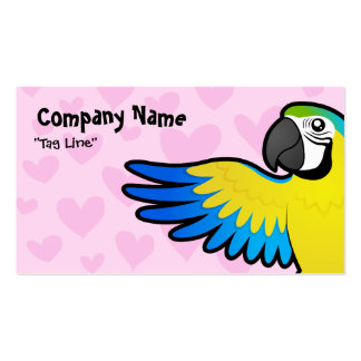 Macaw / Parrot Love Business Card Template