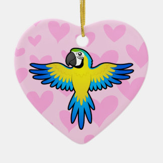 Macaw / Parrot Love Christmas Ornament