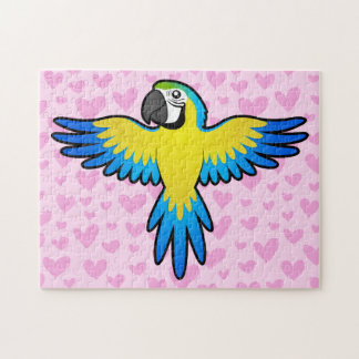 Macaw / Parrot Love Jigsaw Puzzle