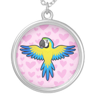 Macaw / Parrot Love Silver Plated Necklace