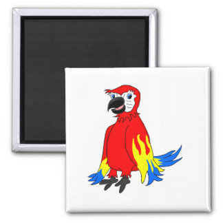 Macaw parrot magnet