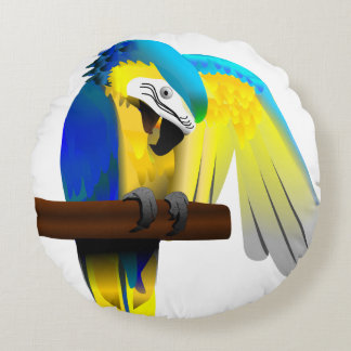 Macaw Parrot Round Cushion