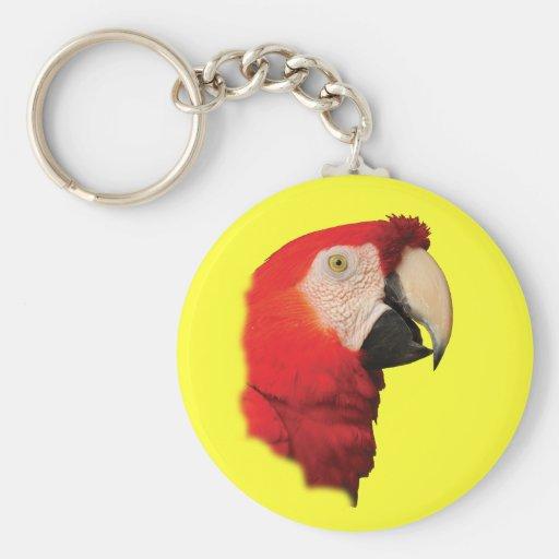 Macaw Portrait Keychain