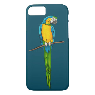 Macaw Sitting on Branch iPhone 7 Case