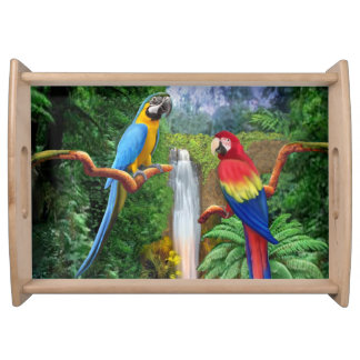 Macaw Tropical Parrots Serving Tray