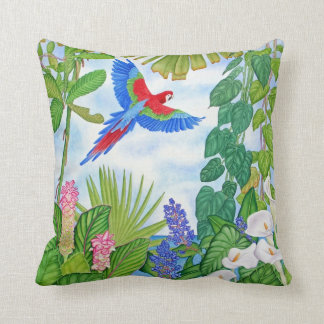 Macaw Watercolor Cushion
