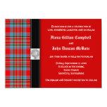 MacBean Ancient Tartan Wedding Invitation 13 Cm X 18 Cm Invitation Card