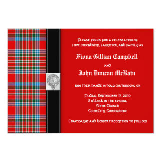MacBean Ancient Tartan Wedding Invitation