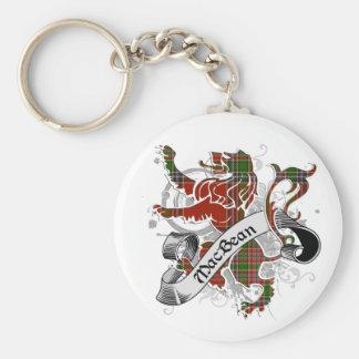 MacBean Tartan Lion Basic Round Button Key Ring