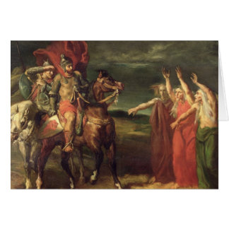 Macbeth and the Three Witches, 1855 Greeting Card