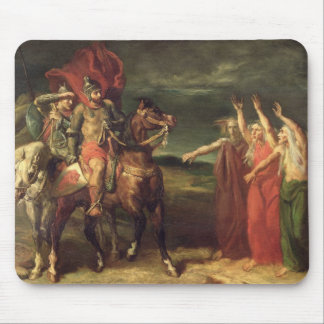 Macbeth and the Three Witches, 1855 Mouse Mat