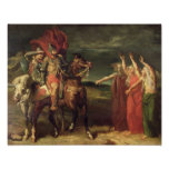 Macbeth and the Three Witches, 1855 Poster