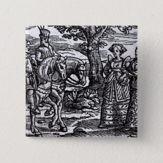Macbeth, Banquo and the Three Witches 15 Cm Square Badge